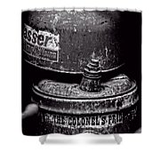 Two Cans - Bw Shower Curtain