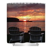Two Chair Sunset Shower Curtain