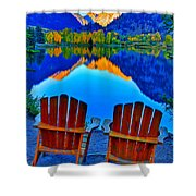 Two Chairs In Paradise Shower Curtain