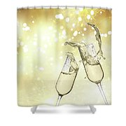 Toast Champagne Glasses Shower Curtain