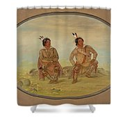 Two Choctaw Indians Shower Curtain