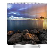 Two-colored Sky During The Sunrise Shower Curtain