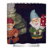 Two Colorful Dudes Shower Curtain