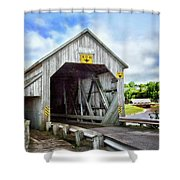 Two Covered Bridges Of St. Martins Shower Curtain