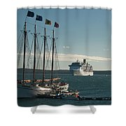 Two Cruise Ships Shower Curtain