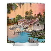 Bayou Blue Shower Curtain