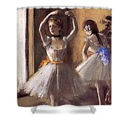 Two Dancers In The Studio Dance School Shower Curtain