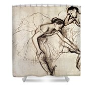 Two Dancers Resting Shower Curtain