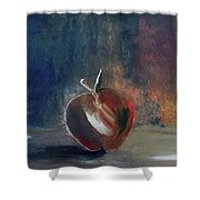Two Dimensional Apple Shower Curtain