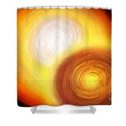 Two Fire-colored Stars Shower Curtain