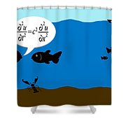 Two Fish Discuss Wave Theory. Shower Curtain