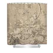 Two Floral Still Lifes Shower Curtain