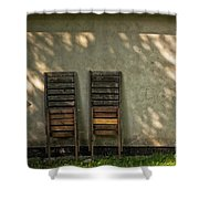 Two Folded Sun Chairs Shower Curtain