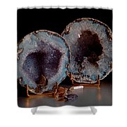 Two Geodes Shower Curtain