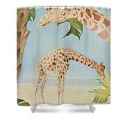 Two Giraffes Shower Curtain