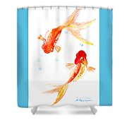 Two Goldfish Feng Shui Shower Curtain