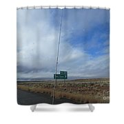 Two Guns Sign Shower Curtain