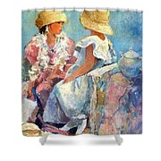 Two Hats Shower Curtain