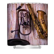 Two Horns Shower Curtain