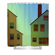 Two Houses Shower Curtain