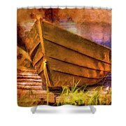 Two Idle Boats Shower Curtain