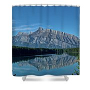 Two Jack Lake In The Morning Shower Curtain