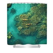 Two Kayakers Shower Curtain