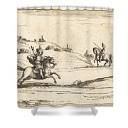 Two Knights Shower Curtain