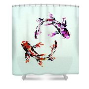 Two Koi Shower Curtain