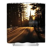 Two Lane To Heaven Shower Curtain