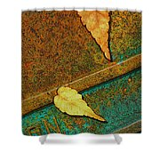 Two Leaves Or Not Two Leaves Shower Curtain