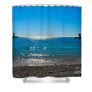 Two Lighthouse And The Wonderful Beach Shower Curtain