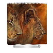 Two Lions Shower Curtain