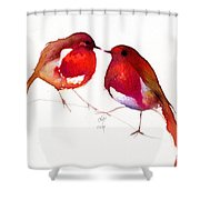 Two Little Birds Shower Curtain