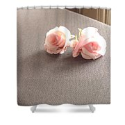 Two Little Pink Roses Shower Curtain