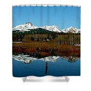 Two Med River Reflection Shower Curtain