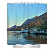 Two Medicine Boat Dock Shower Curtain