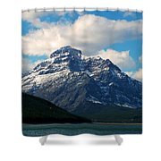 Two Medicine Lake And Rising Wolf Mountain Shower Curtain