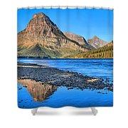 Two Medicine Lake Sunrise Panorama Shower Curtain