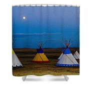 Two Medicine Teepees Shower Curtain