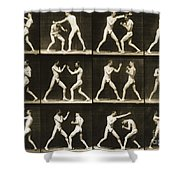 Two Men Boxing Shower Curtain