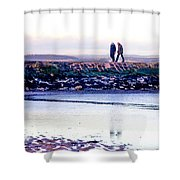 Two Men Went For A Walk Shower Curtain