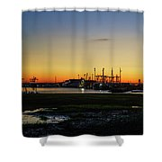 Two Mile Landing At Sunrise - Wildwood Crest New Jersey Shower Curtain