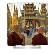 Two Monks Shower Curtain