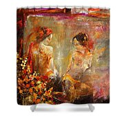 Two Nudes  Shower Curtain