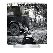 Two Old Cars Shower Curtain