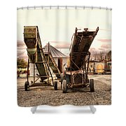 Two Old Conveyor Belts Shower Curtain