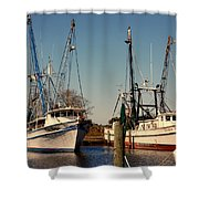 Two Old Shrimpboats Shower Curtain