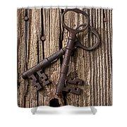 Two Old Skeletons Keys Shower Curtain