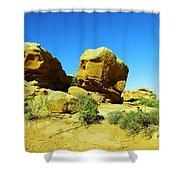 Two Orange Rocks Shower Curtain